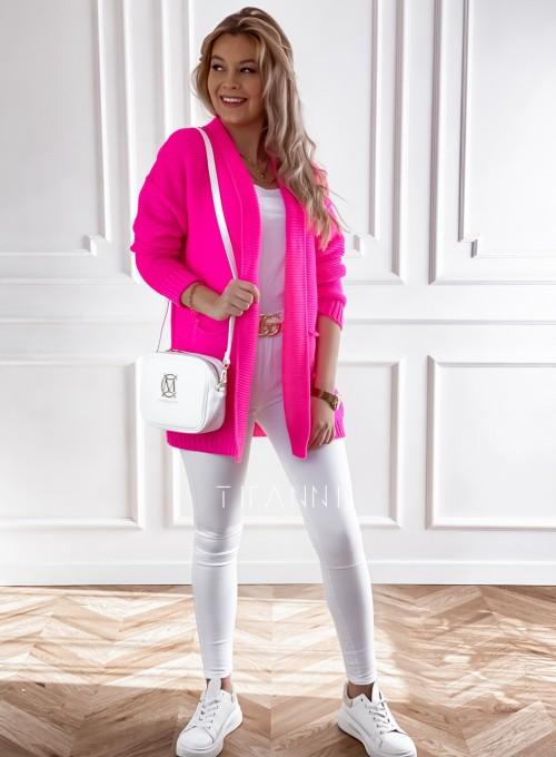 Sweter kardigan Nobi neon 3