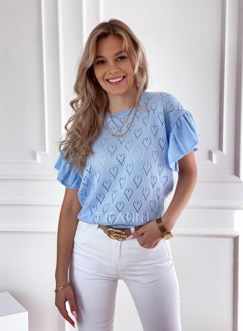 Bluzka sweterkowa Bergi błękitny 2