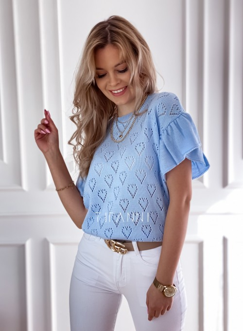 Bluzka sweterkowa Bergi błękitny 3