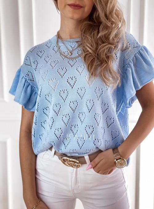 Bluzka sweterkowa Bergi błękitny 1