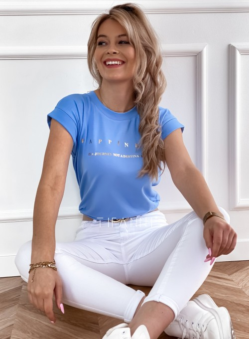 T-shirt happiness blue 2