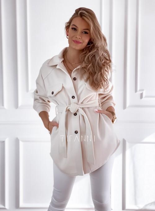 Płaszcz kurtka Natali śmietankowy