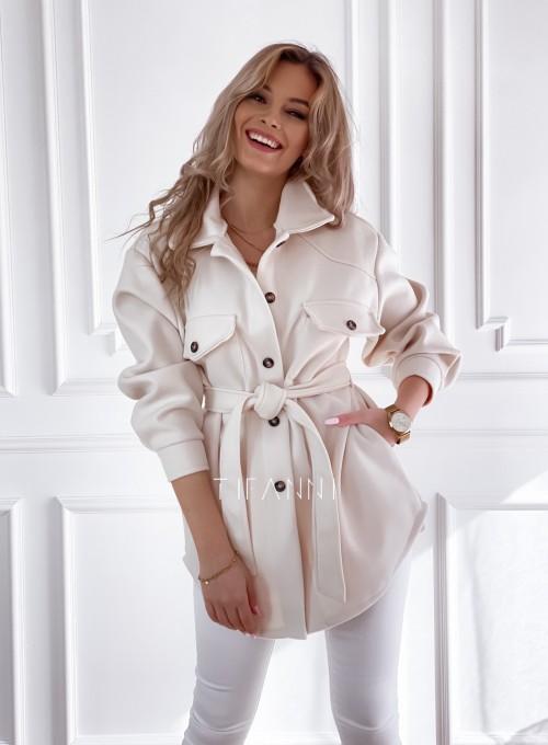 Płaszcz kurtka Natali śmietankowy 1