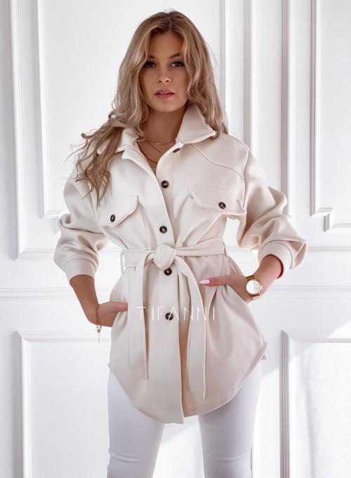 Płaszcz kurtka Natali śmietankowy 3