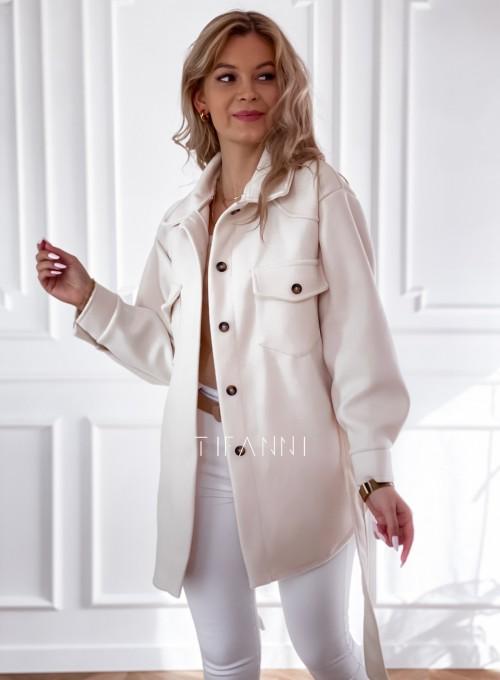 Płaszcz kurtka Natali śmietankowy 4