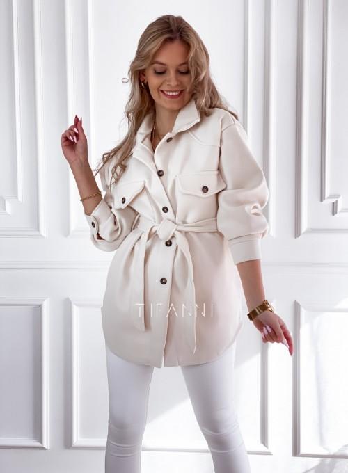 Płaszcz kurtka Natali śmietankowy 5