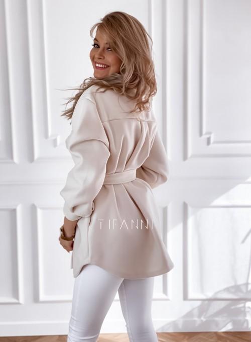 Płaszcz kurtka Natali śmietankowy 6