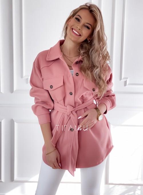Płaszcz kurtka Natali pudrowy