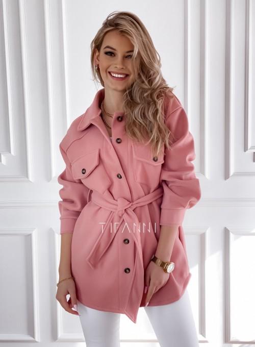 Płaszcz kurtka Natali pudrowy 1