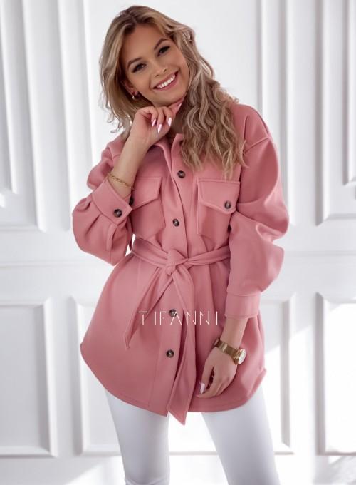 Płaszcz kurtka Natali pudrowy 2
