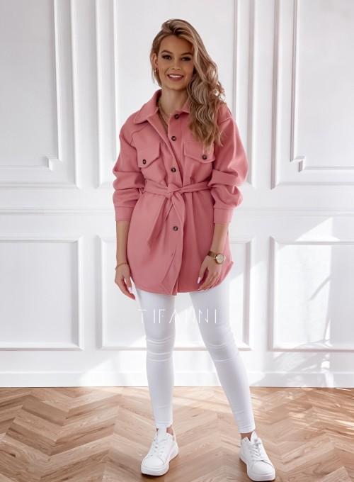 Płaszcz kurtka Natali pudrowy 3