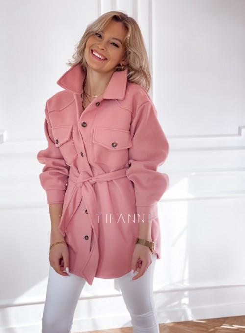 Płaszcz kurtka Natali pudrowy 4