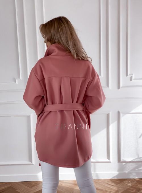 Płaszcz kurtka Natali pudrowy 5