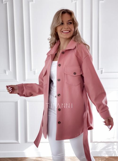 Płaszcz kurtka Natali pudrowy 6