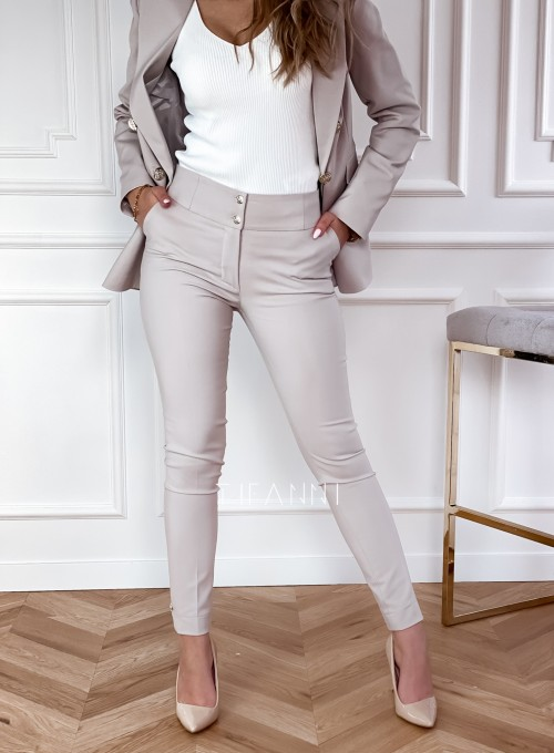 Spodnie Bonni beżowe