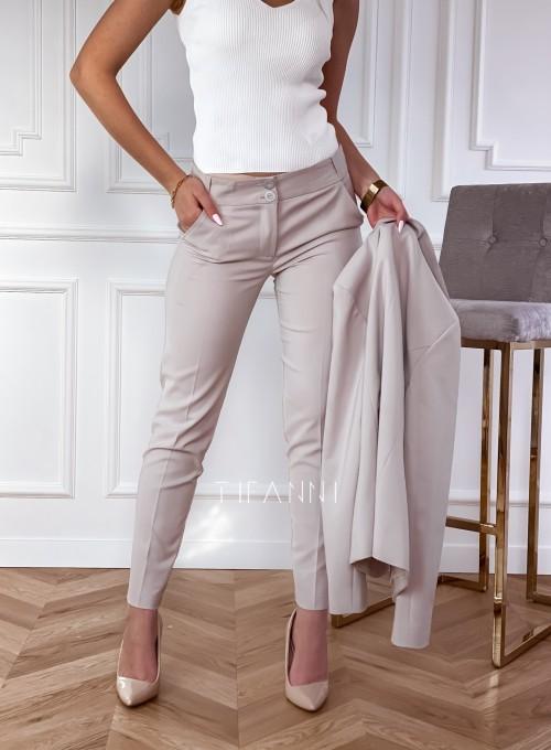 Spodnie Bonni beżowe 2
