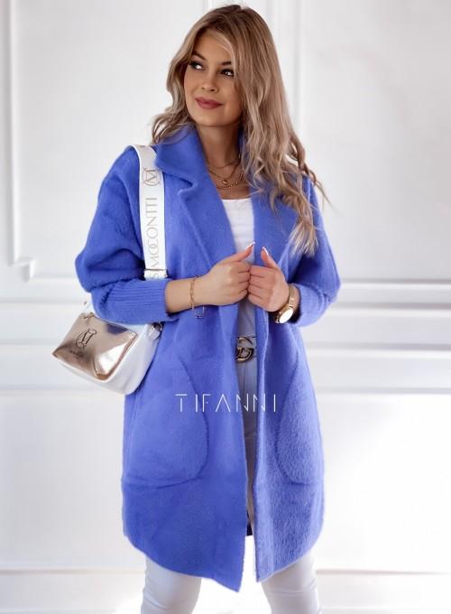Płaszcz Alpaka kobalt