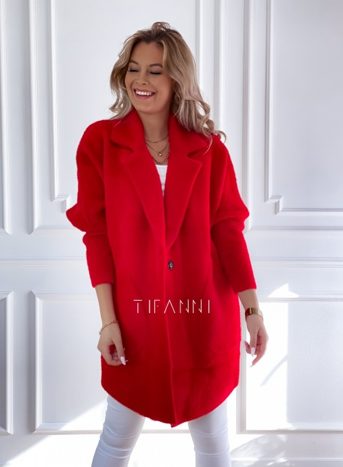 Płaszcz Alpaka czerwony 2