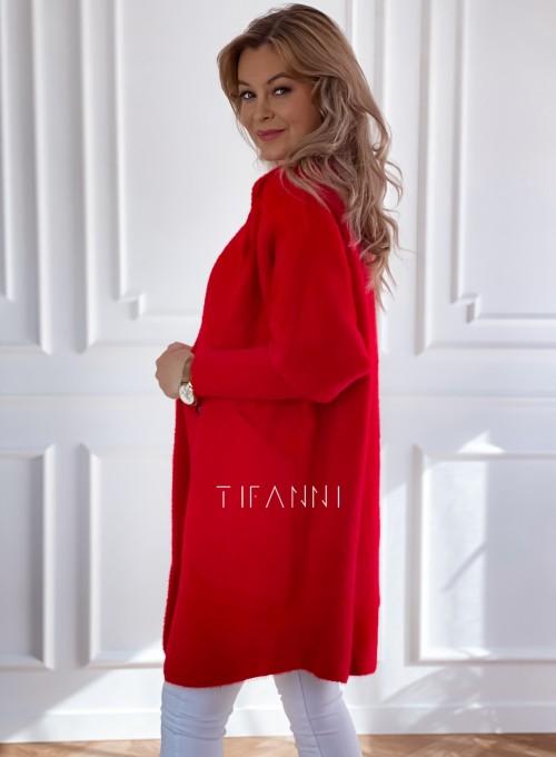 Płaszcz Alpaka czerwony 5