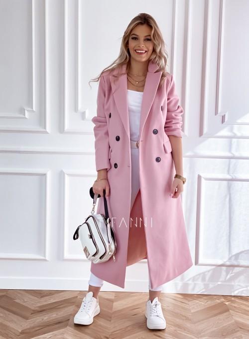 Płaszcz Lari w kolorze pudrowym