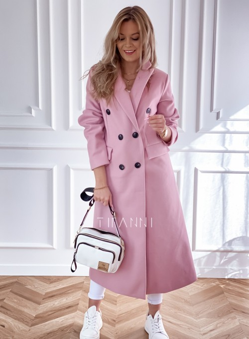 Płaszcz Lari w kolorze pudrowym 1