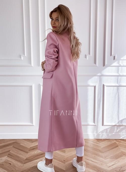 Płaszcz Lari w kolorze pudrowym 4