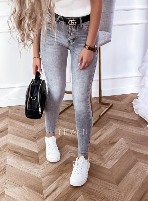 Spodnie jeansowe Papi szare 4