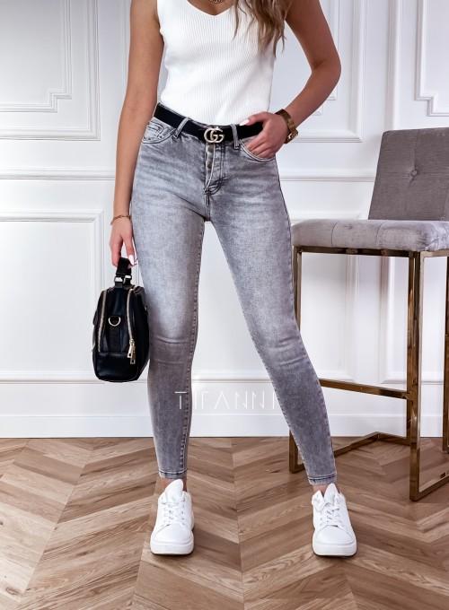 Spodnie jeansowe Papi szare 5