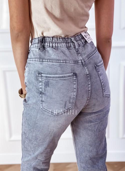 Spodnie jeansowe Mom Fit Verra szare 3