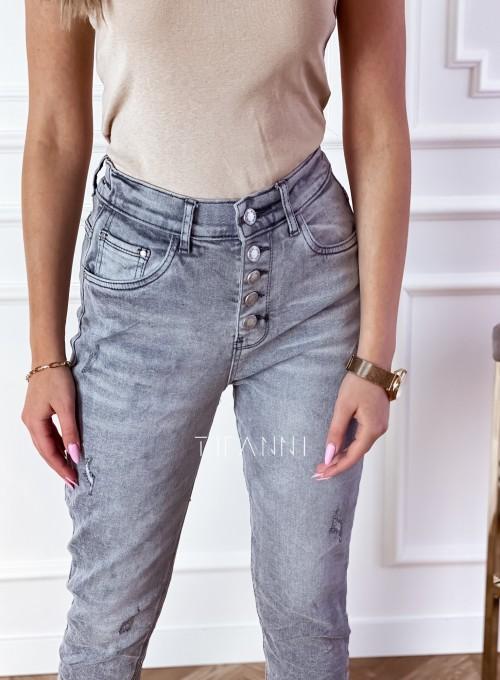 Spodnie jeansowe Mom Fit Verra szare 1