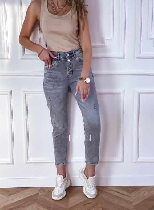 Spodnie jeansowe Mom Fit Verra szare 4