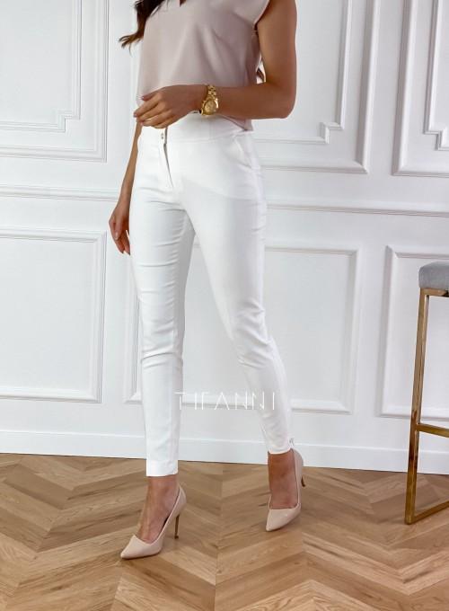 Spodnie Livardi śmietankowe 5