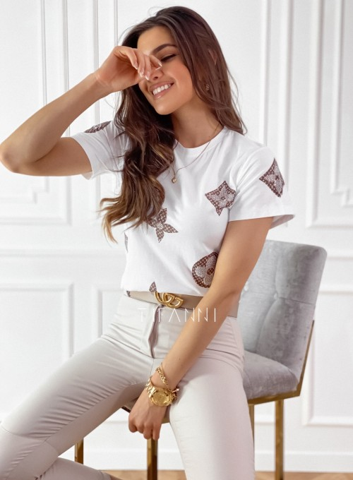 T-shirt Lou Biały