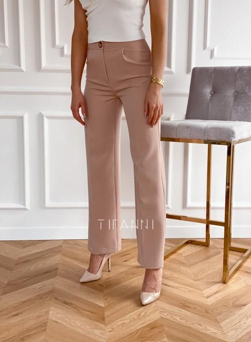 Eleganckie spodnie Salin beżowe 4
