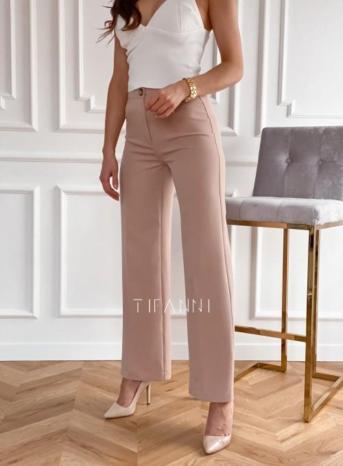 Eleganckie spodnie Salin beżowe 5