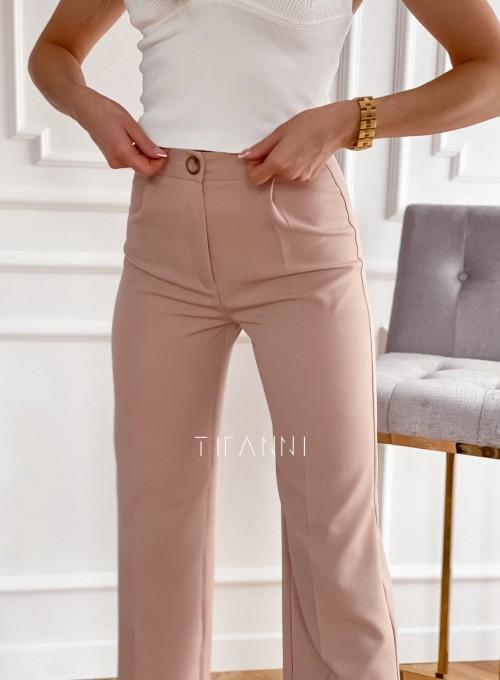 Eleganckie spodnie Salin beżowe 2
