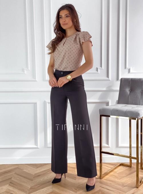 Eleganckie spodnie Salin czarne 1