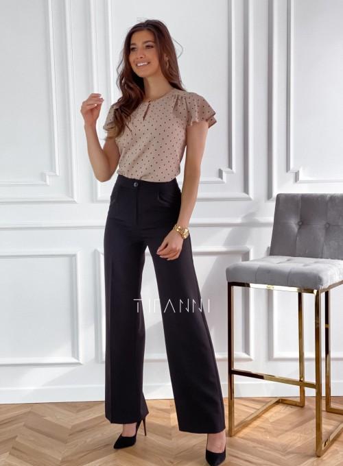 Eleganckie spodnie Salin czarne 3