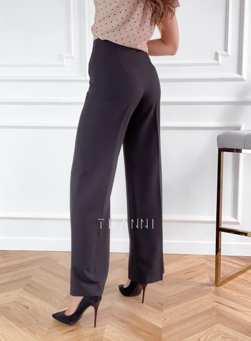 Eleganckie spodnie Salin czarne 2