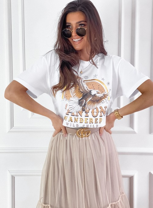 T-shirt Canyon biały 5