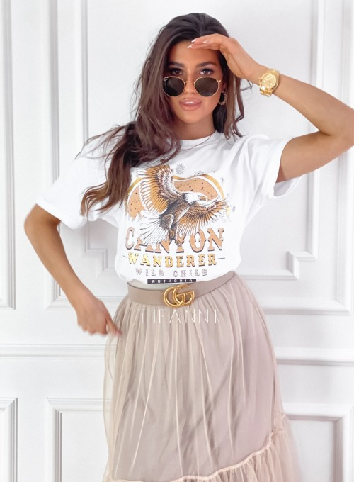 T-shirt Canyon biały 2