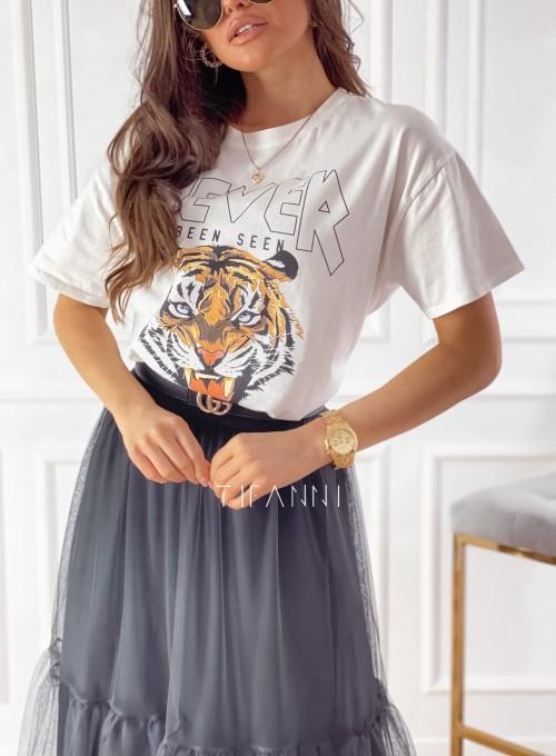 T-shirt Never śmietankowy 3