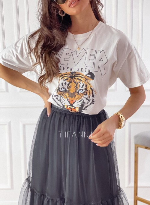 T-shirt Never śmietankowy 1