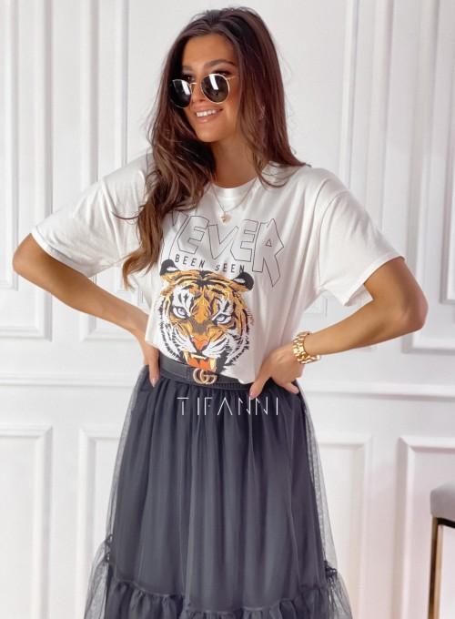 T-shirt Never śmietankowy 4