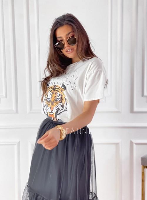 T-shirt Never śmietankowy 5