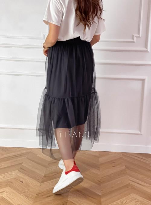 Spódnica Panti czarna odcinana 2