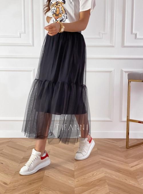 Spódnica Panti czarna odcinana 4