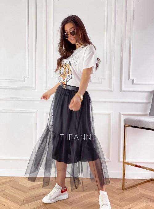 Spódnica Panti czarna odcinana 3
