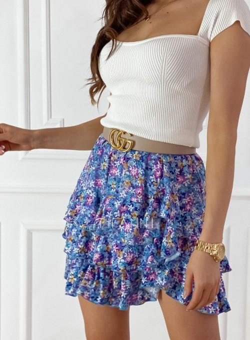 Spódnica Riki kwiatki blue