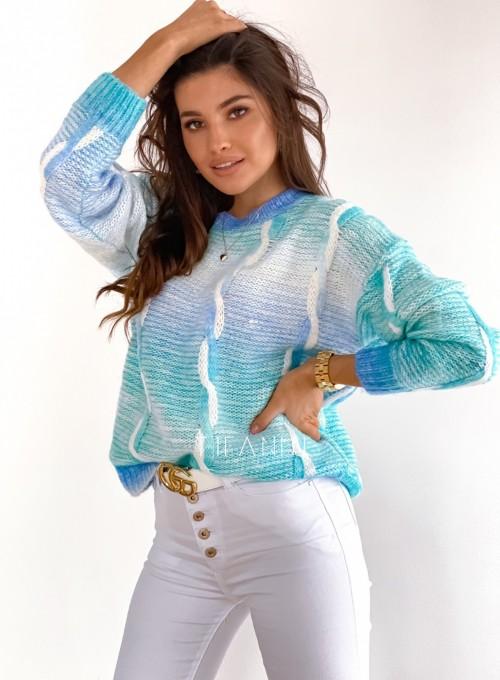 Sweter Lizi z warkoczem 1